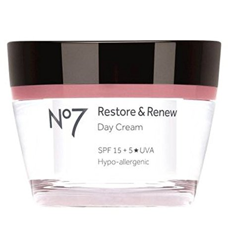 No7 Restore & Renew Day Cream Spf 15 50Ml - Intensive Protection Spf 15 Moisturizer