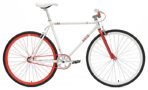 Chill Bikes Single Speed Commuter Fixie Bike Alloy Frame, Matte White, (Single Gear Bike)