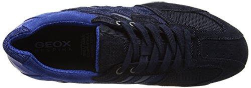 E Uomo Geox Zapatillas Snake Azul para Hombre qz0wTvR