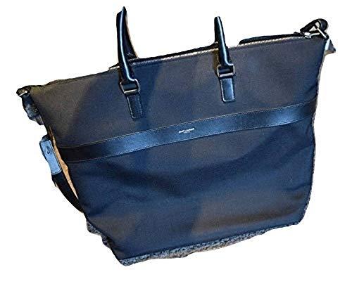 Saint Laurent Paris $1680 Authentic Black Leather Briefcase Brand New
