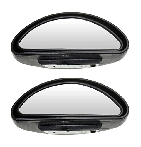 Side Mirror - Auxiliary Car Mirror Offers Wide Angle View (Pack of 2)