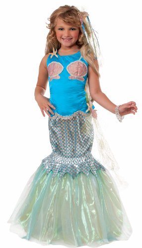 [Forum Designer Collection Deluxe Mermaid Child Costume, Large/12-14] (Ariel Tail Costumes)