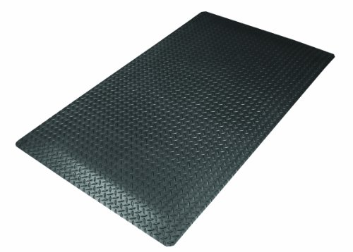 NoTrax 975S0023BL Cushion Trax Ultra Floor Mat, 2' x 3', Black