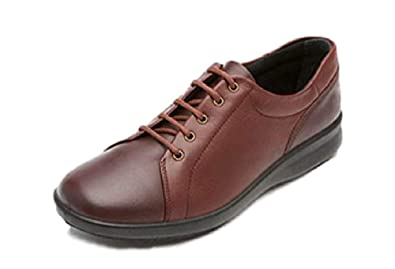 87410f4d490e6 DB Easy b Phoebe Great Everyday Burgundy Red Ladies Lace-up Shoes in ...