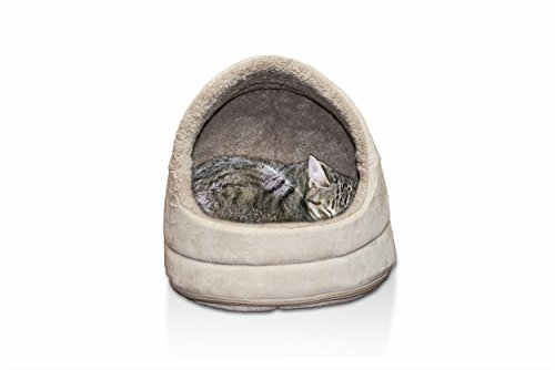 "Furhaven Pet Terry & Suede Hood, Clay, 14"" BASE"