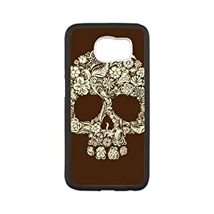 Samsung Galaxy S6 Cell Phone Case White Sugar Skull Cover COF Cell Phone Case Personalized DIY