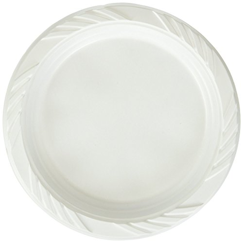 Blue Sky 239 200 Count Disposable White 6-inch Plastic Plates (2 Packs of 100)