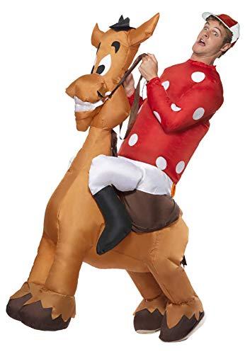 Horse Jockey Costume Men (Inflatable Jockey and Horse Costume)