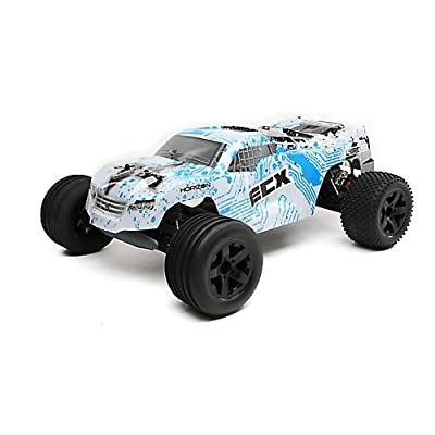 1/10 Circuit 2WD Stadium Truck, Brushed, LiPo, RTR: White/Blue