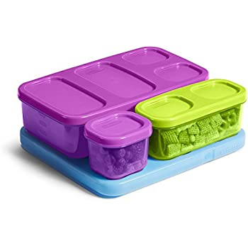 Rubbermaid Kid's Flat Lunch Blox Kit, Purple/Green