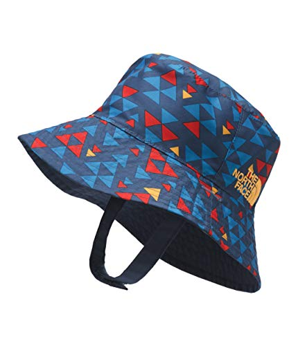 The North Face Kids Unisex Baby Sun Bucket (Infant) Shady Blue Mini Aztec Print One Size - Infant Big Face