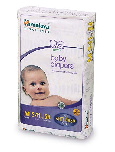 Himalaya Baby Tape Diapers Medium M Size 54 Pieces