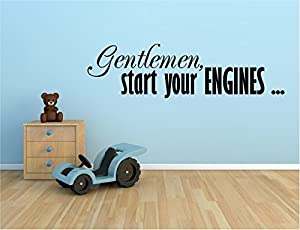 Amazoncom GENTLEMAN START YOUR ENGINES RACING RACE CARS VINYL - Wall decals carscars wall decals add photo gallery car wall decals home design ideas