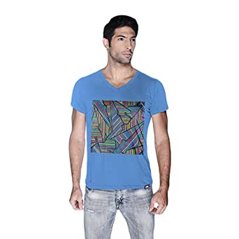 Creo Abstract 02 Retro T-Shirt For Men - S, Blue