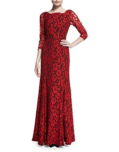 Prom Long Lace s Homecoming Gown Dress Red Bridesmaid BOwith Women tqwAxCYRB