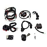 Electrics Wiring Harness CDI Coil Solenoid Regulator Start Switch Key Ignition GY6 150cc For ATV Quad Buggy Go Kart Scooter