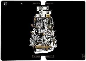 Cubierta de cuero y caja de la PC funda / soporte para funda de Apple iPad Mini 1,2,3 funda Con Magnetic reposo automático Función de despertador DIY por Grand Theft Auto Iii N8K5Te6E8Qy