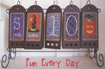 (Fun Every Day-October Cross Stitch Chart and Free Embellishment)