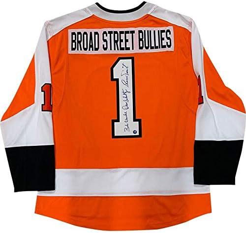 Broad Street Bullies Autographed Philadelphia Flyers Jersey Clarke Parent Schultz Autographed Nhl Jerseys At Amazon S Sports Collectibles Store