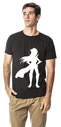 Wonder woman cotton round neck tshirt, Black XL