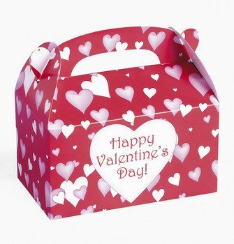Fun Express Dozen Cardboard Valentine's Day Treat Boxes