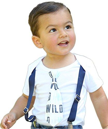 Noah's Boytique Wild One Boys 1st Birthday Outfit Tie Navy Suspenders Grey Mint Navy Tie First Birthday Shirt Cake Smash 12-18 Months