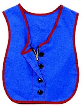 childrens-factory-cf361-319-manual-dexterity-vest-button-zipper-combo-cotton-polyester