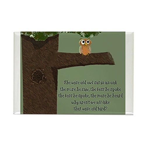CafePress Wise Owl Magnet Rectangle Magnet, 2