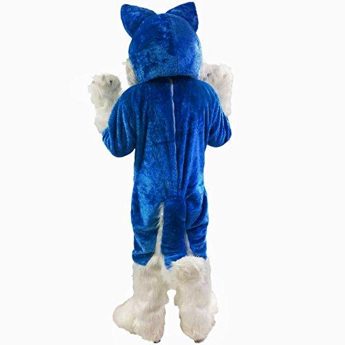 Amazon.com: Azul Perro Husky, diseño de lobo mascota disfraz ...