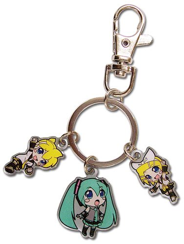 Vocaloid Miku, Rin y Len Sd metal llavero: Amazon.es ...