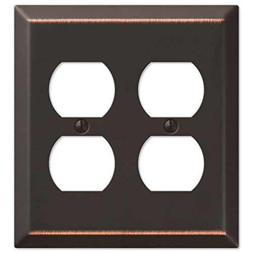 Oil Rubbed Bronze - Traditional Design Double Duplex Wall Plate (Double Duplex Switch Plate Covers)