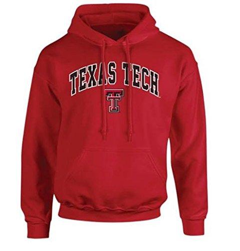 (Elite Fan Shop Texas Tech Red Raiders Hooded Sweatshirt Arch Scarlet - XXL)