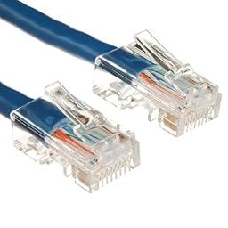 100Ft Cat6 Plenum Ethernet Cable 550 MHz Blue