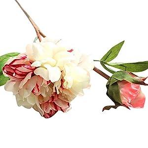 MARJON FlowersArtificial Flowers for Women, Silk Flowers Fake Flowers Artificial Foam Flowers Leaf Bush Bridal Bouquet Floral Decor DIY for Home Wedding Decoration 52