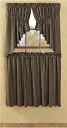 Kettle Grove Plaid Tier Scalloped Lined Set of 2 L36xW36\