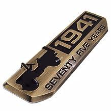 75 Years Anniversary 1941 Metal Emblem Badge Nameplate for Jeep Wrangler Grand Cherokee Compass Patriot 2016 2017 2018