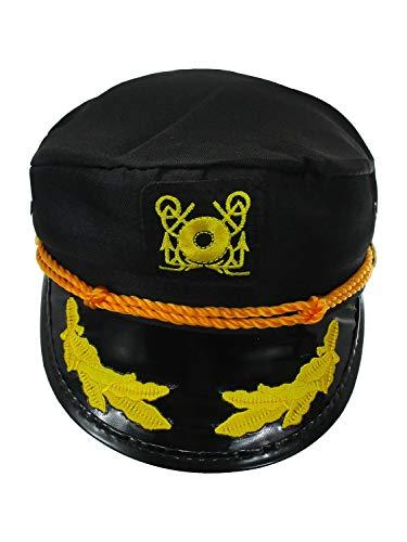 Nicky Bigs Novelties Adult Yacht Boat Captain Ship Admiral Hat Fisherman Cap, Adjustable, ()