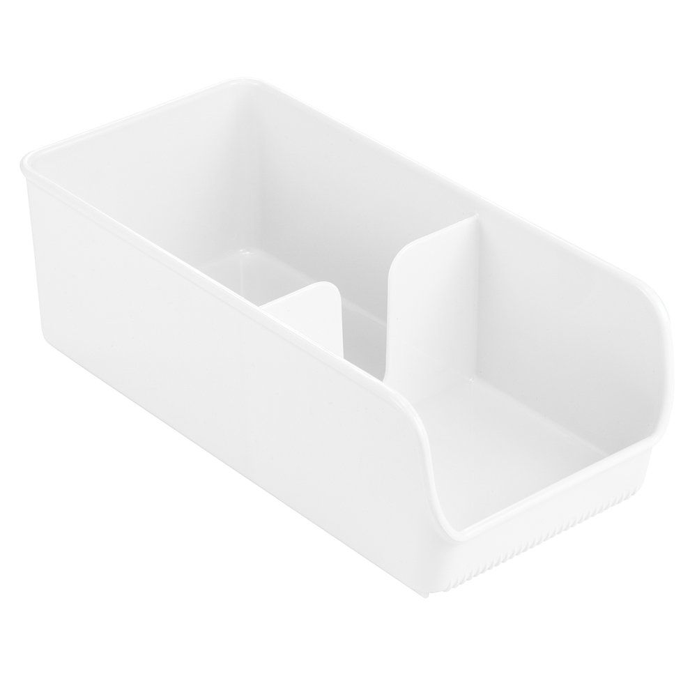 InterDesign Linus Kitchen Pantry Organizer for Snacks, Sugar, Salt, Sweeteners, Tea Bags, Creamers - White Inc. 54931