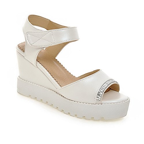 AN Womens Non-Marking Cold Lining Dress Urethane Platforms Sandals DIU00944 White 375nl