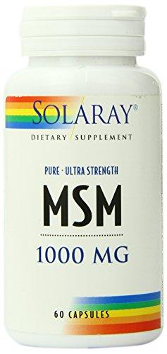 Capsules de Solaray MSM pur, 1000 mg, 60 comte