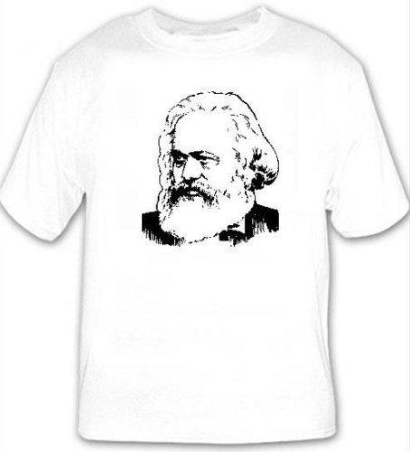 KARL MARX - White T-shirt - size XXL