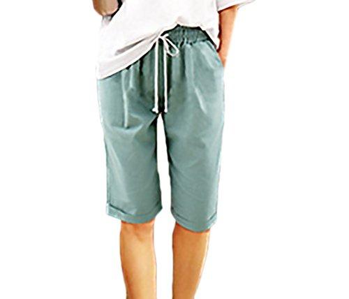 Moda Corti Con Blu Giovane Semplice Tasca Casual Taglie Grandi In Glamorous Eleganti Pantaloni Vita Estivi Pantaloncini Elastico Shorts Donna Puro Colore qS1TwP