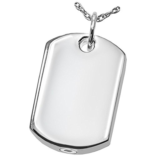 Memorial Gallery Pets 3172s dog tag Sterling Silver Cremation Pet Jewelry by Memorial Gallery Pets