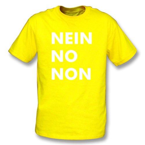 TshirtGrill Nein kein nicht (wie von Thom Yorke von Radiohead getragen) T-Shirt, Farbe- Gelb