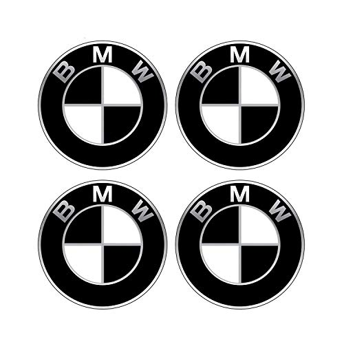Peake Moear Set of 4 Pieces 68mm Center Wheel Hub Caps for BMW - Applicable to BMW All Models Wheel Center Caps Emblem (Black White)