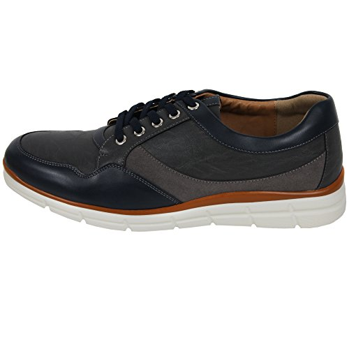 New Trend Sneakers Simple Lace up Casual Mens Athletic Shoes Navy FhFnlQEWL