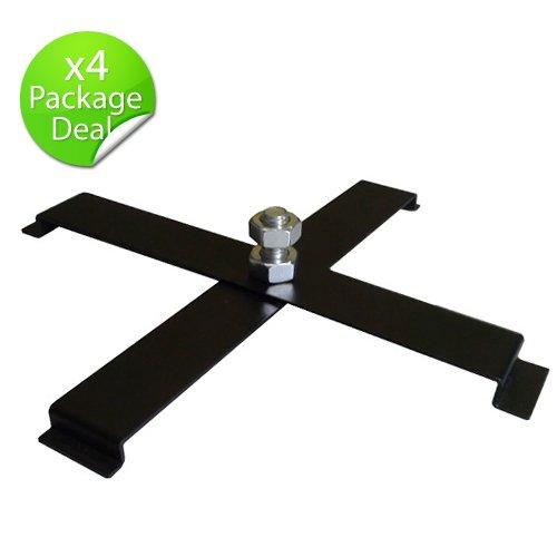 4 Par Cans - OPTIMA 4pcs Black Floor PAR CAN Stand 4 legs