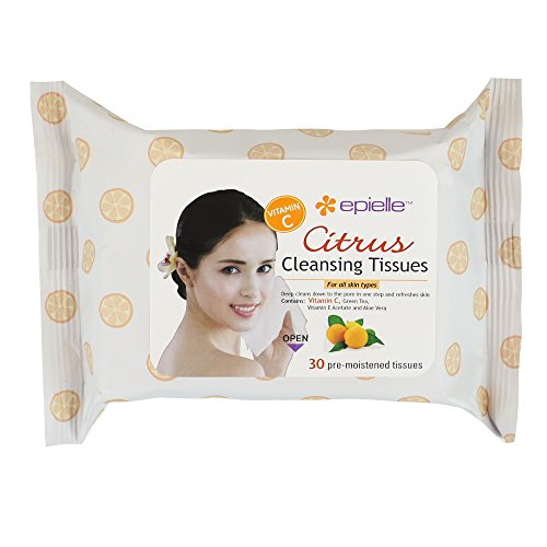 Epielle Citrus Facial Cleansing Tissues 30ct (6 Pack) (Avon Facial Wipes)