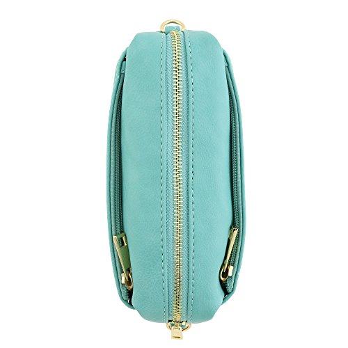 Turquoise Crossbody Zip Small Triple Bag wq7pgvvU