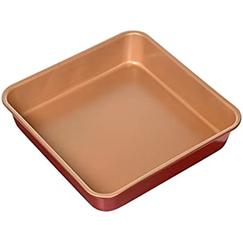 Amazon Com Red Copper 9 5 Quot Square Baking Pan By Bulbhead